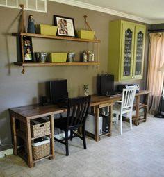 Custom Made Home Office Desk by SB Designs