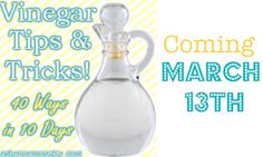 Vinegar tips & tricks!  A new series that starts March 13th!  Ooooo, I know I'm going to love this