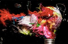 Amazing photos of exploding lightbulbs filled with colorful materials by Jon Smith - Blog of Francesco Mugnai