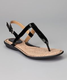 Take a look at this Black Keiko Sandal by b.o.c by Born on #zulily today!