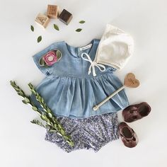 Baby Girl Clothes with Cognac T-straps by @meganjwilliams
