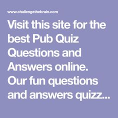 General knowledge quiz questions and answers, General knowledge quiz - Free Pub Quiz | This or ...