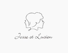 Josse et Lucien Logo Design by masaomi fujita, via Behance Logo Sign, Typography Logo, Logo Branding, Branding Design, Best Logo Design, Pet Logo, Lucien, Japan Logo, Wedding Logos