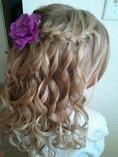 Waterfall Braid Wedding Hair-- jaclyn hair :)