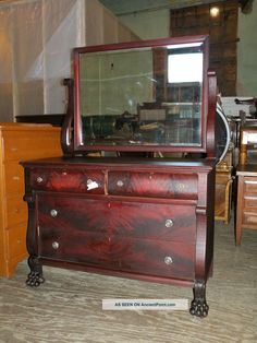 antique_flame_mahogany_bedroom_dresser_furniture_empire_style_paw_feet_1_lgw.jpg (1200×1600)