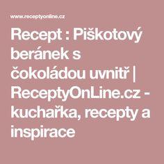 Recept : Piškotový beránek s čokoládou uvnitř | ReceptyOnLine.cz - kuchařka, recepty a inspirace
