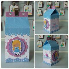Caixa Milk Alice no País das Maravilhas by Oliver Festas Infantis