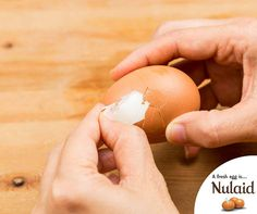 #TuesdayTip Peeling eggs is a hassle sometimes. Lower your eggs straight from the fridge into already-boiling water. When they're done, let them chill in cold water for at least 15 minutes and then peel. #Nulaid