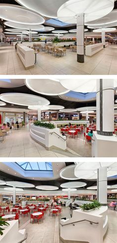 Food Court at The Pen Centre in St. Catharines, ON - designed by GH+A (in collaboration with MMC International Architects)