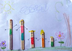 Meaningful Mama: Day #133 - Popsicle Stick Families
