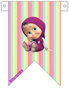 Kit imprimible de Masha y El Oso para decoración, descarga gratis
