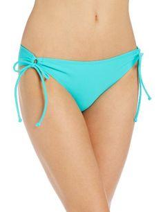 Roxy Juniors Surf Essentials 70S Lowrider Tie Side Bikini Bottom on bustyswimwear.com