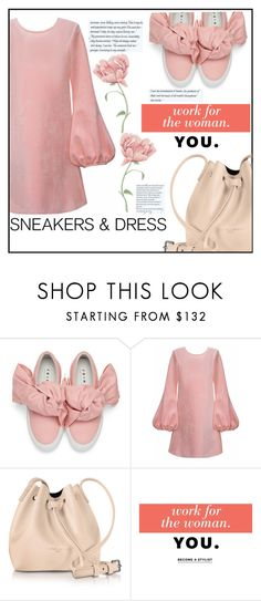 """""""Sporty Chic: Sneakers and Dress"""" by elisabetta-negro ❤ liked on Polyvore featuring Joshua's, Cynthia Rowley, Lancaster, Stella & Dot, dress, sneakers and SNEAKERSANDDRESSES"""
