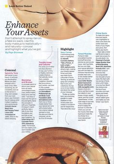 Pick up this month's issue of Women's Health Magazine to check out Kona Tanning Company's contouring tips, in a new interview with Kona Tanning CEO and Victoria's Secret Fashion Show body makeup artist Katie Quinn!  We love Women's Health Magazine!  |  KonaTans.com #spraytan #tan #tanning #selftan #bronze #contour #contouring #makeup #bbloggers
