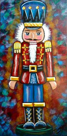The Nutcracker Nutcracker Decor, Nutcracker Ornaments, Nutcracker Christmas, Wood Ornaments, Christmas Canvas, Christmas Art, Christmas Decorations, Xmas, Christmas Drawing