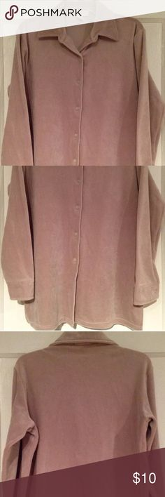 "EXPRESS TAN VELOUR BUTTON FRONT SHIRT Women's S/M SUPER PRETTY excellent condition pre-owned thick beige velour button down shirt top by EXPRESS! Size women's S. Runs big! Chest: 21"" lying flat pit to pit Length: 28"" Material: 94% polyester, 6% spandex  -NO FLAWS! Express Tops Button Down Shirts"