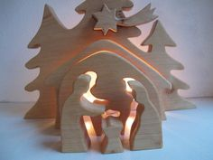 Crib Alder wood oiled by AltePosthalterei on Etsy Christmas Nativity, Christmas Wood, Christmas Crafts, Wooden Cribs, Silver Christmas Decorations, Wood Oil, Tree Shapes, Beeswax Candles, Wood Crafts