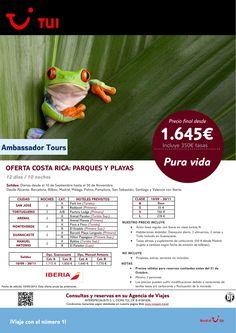 Oferta Costa Rica:Parques y Playas. 10 noches. Del 10/09 al 30/11 con IB. Precio final desde 1.645€ ultimo minuto - http://zocotours.com/oferta-costa-ricaparques-y-playas-10-noches-del-1009-al-3011-con-ib-precio-final-desde-1-645e-ultimo-minuto-2/
