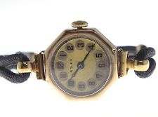 ROLEX ART DECO 7 WORLDS RECORDS 1900'S 9KT SOLID ROSE GOLD WIND ESTATE WATCH  So nice.