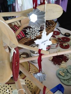 Our #hand made original spoon #christmas #tree is a great hit. Sprinkled with @East of India Australasia decorations