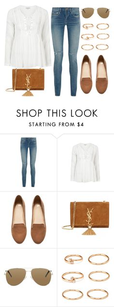 """""""Style #10352"""" by vany-alvarado ❤ liked on Polyvore featuring Yves Saint Laurent, Topshop, H&M and Forever 21"""
