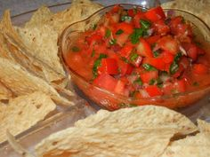 Homemade Mild Salsa....for those of us who can't handle the heat!