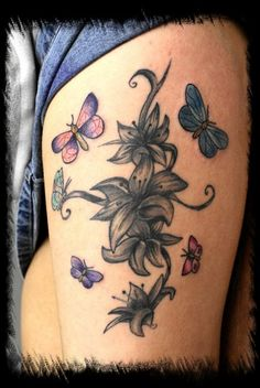 lilly's n butterflys - 30 Awesome Lily Tattoo Designs  <3 !