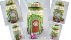 Hey, I found this really awesome Etsy listing at https://www.etsy.com/listing/173621787/delightful-polymer-clay-fairy-house