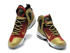 Nike LeBron 9 PS Elite Finals Away PE Red Black Gold,Style code:516958-101,The Nike Lebron 9 PS Elite Finals Away PE features a red infused upper i\u2026