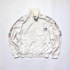 7159a4a12 Rare Vintage 80s 90s FILA Jacket, Moda Nella Vitta Sportiva, Biella Italia,  Windbreaker, Tennis Wind Up, Veste Fila, Hip Hop