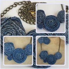 farmer medál Recycle Jeans, Recycled Denim, Farmer, Crochet Necklace, Jewelry, Fashion, Moda, Jewlery, Jewerly