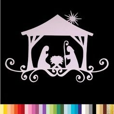 """Découpe """"crèche de noël"""" scrapbooking embellissement die cut 32 couleurs disponibles (ref.0084)"""