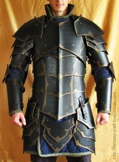 Black Knight Leather Armour by I-TAVARON-I.deviantart.com on @deviantART