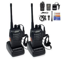 Ammiy BaoFeng BF-888S Rechargeable Long Range 5W Walkie Talkies 16 Channels tow way radios (2 pack of radios) * See this great product.