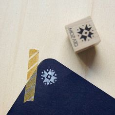 Mini Snowflake Rubber Stamp