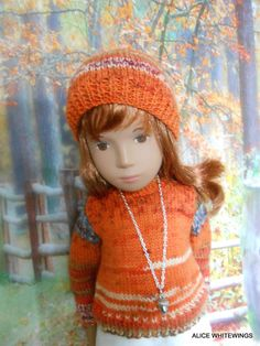 NEW HAND KNITTED OUTFIT FOR SASHA DOLL  *Autumn Glow*