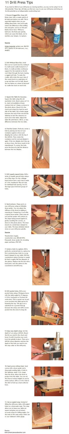 11 Drill Press Tips