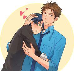 Hori x Kasima / Gekkan Shoujo Nozaki-kun Anime Ai, Anime Manga, Monthly Girls' Nozaki Kun, Couples Comics, Gekkan Shoujo Nozaki Kun, Romance, Cartoon Games, Cute Anime Couples, Gifs