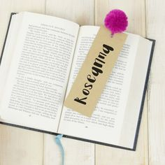 Personalised Pom Pom Bookmark - colourful book mark - Custom bookmark - Book lover gift - bookworm gift - reader gift - your name bookmark - Etsy - LetsDreambyChiChiMoi Gifts For Bookworms, Gifts For Readers, Book Lovers Gifts, Book Gifts, Custom Bookmarks, Rainy Day Crafts, Pom Pom Crafts, Personalized Books, Camping Crafts