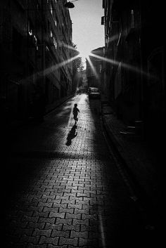 Ever Feel you are all alone?  A Light is Shining over you - you just need to LOOK UP!!  Street Photography Gallery