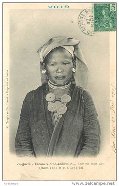 "Indochine ""Femme Phine Tao Yao"". Lao Kay, Tonkin. ca"