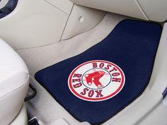 Boston Red Sox 2-pc Printed Carpet Car Mat Set
