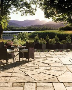 Bradstone by Nicolock Patio Pack and Circle Patio Pack - mediterranean - patio - new york - by Nicolock Paving Stones and Retaining Walls Love the pave stone pattern