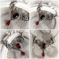 Tief rot rote Granat gothic halskette jewel von MidnightVision