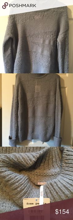 NWT Free People gray sweater L Awesome new style gray sweater free people  Size L $198 Free People Sweaters Crew & Scoop Necks