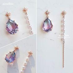 Resin Jewelry, Pearl Jewelry, Jewelry Crafts, Antique Jewelry, Jewelery, Silver Jewelry, Korean Accessories, Jewelry Accessories, Jewelry Design