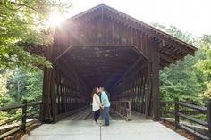 Stone Mountain engagement photos | Covered Bridge | Yellow Daisy Festival | Atlanta Georgia Photographer