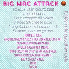 Big Mac Attack recipe - weight watchers
