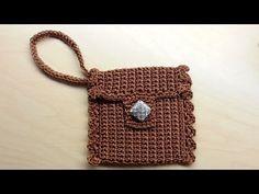 (crochet) How To - Crochet a Small Purse - Yarn Scrap Friday - YouTube