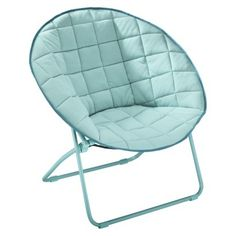 Quilted Round Chair Assorted Colors (Lt Turq or Purple)